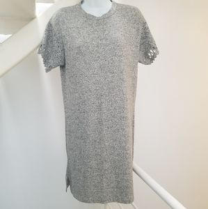Coin 1804 Grey Fuzzy T Shirt Dress Size Me…